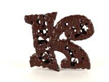 Шоколад письма k форменный жидкостный иллюстрация вектора