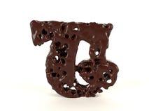 Шоколад письма t форменный жидкостный вязкостный иллюстрация вектора