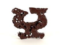 Шоколад письма y форменный жидкостный вязкостный иллюстрация штока