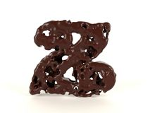 Шоколад письма z форменный жидкостный стоковые фото