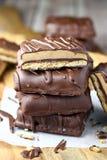 Шоколад покрыл бары Graham арахисового масла Стоковое фото RF