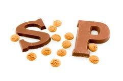 шоколад помечает буквами sinterklaas Стоковое фото RF
