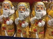 Шоколад Санта Клаус Lindt Стоковые Фотографии RF