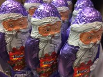 Шоколад Санта Клаус Milka Стоковое фото RF