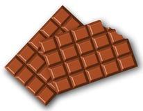 шоколад сдержанный штангами иллюстрация вектора