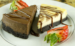 шоколад сыра торта Стоковые Изображения RF