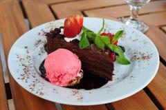 шоколад торта гарнирует Стоковое Фото