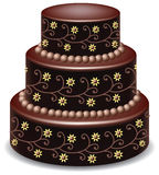 шоколад торта иллюстрация вектора