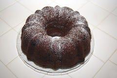 шоколад торта bunt стоковое изображение