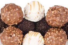 шоколад шарика печатает различное на машинке Стоковое Изображение RF