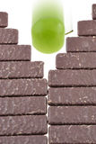 шоколад яблока против Стоковое фото RF