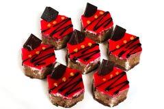 шоколад 7 обломока торта стоковое изображение rf