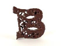 Шоколад b письма форменный жидкостный иллюстрация штока