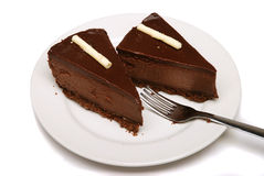 шоколад cheesecake Стоковое Изображение