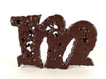 Шоколад Letted m форменный жидкостный бесплатная иллюстрация