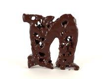 Шоколад n письма форменный жидкостный иллюстрация вектора