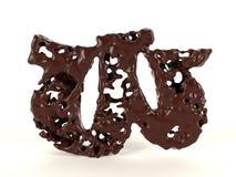 Шоколад w письма форменный жидкостный вязкостный иллюстрация штока