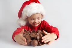 шоколад маленький santa Стоковые Фотографии RF