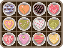 шоколады коробки Стоковая Фотография