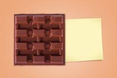 Шоколад бара с липким столбом Стоковые Изображения