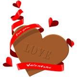 Шоколад валентинки Стоковое Изображение