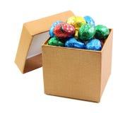 Шоколад в коробке золота Стоковое Фото