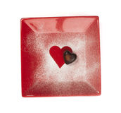 Шоколад в форме сердец Стоковое фото RF