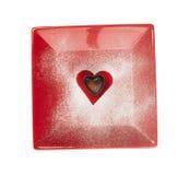 Шоколад в форме сердец Стоковое Изображение RF