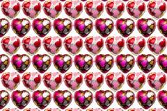 Шоколад в форме сердц на белой предпосылке Стоковое Изображение