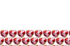 Шоколад в форме сердц на белой предпосылке Стоковое Изображение RF
