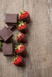 Шоколад и клубника с соусом шоколада Стоковое Изображение RF