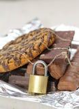 Шоколад и печенья запертые Стоковые Изображения