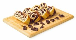 Шоколад крена Стоковые Фото