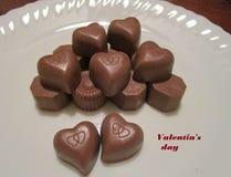 Шоколад на день ` s валентинки Стоковое фото RF