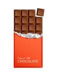 Шоколадные батончики конфеты молока в винтажных оболочках бара Стоковые Фото