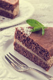 Шоколадные торты с завалкой гайки - годом сбора винограда Стоковое Изображение