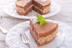 Шоколадные торты с завалкой гайки Стоковые Изображения RF