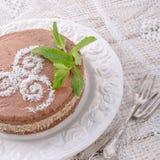 Шоколадные торты с завалкой гайки Стоковые Фото