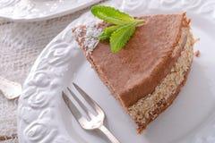 Шоколадные торты с завалкой гайки Стоковые Фотографии RF