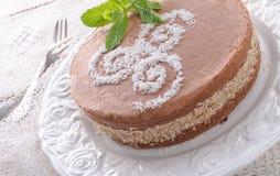 Шоколадные торты с завалкой гайки Стоковое Фото