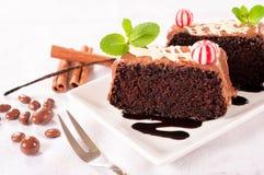 Шоколадные торты Стоковая Фотография RF
