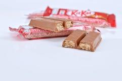 Шоколадный батончик kat набора Nestle Стоковые Изображения RF