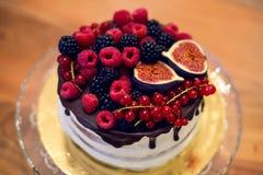 Шоколадный торт на стойке Стоковые Фотографии RF
