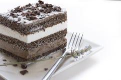 Шоколадный торт. musse и сливк chantilly Стоковые Фотографии RF