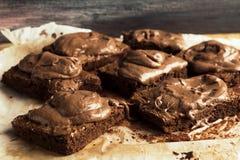 шоколад пирожнй домодельный Стоковые Изображения