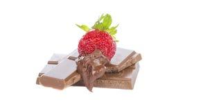 шоколад покрыл клубники стоковое изображение rf