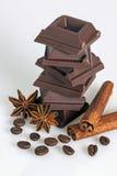 шоколад с белой предпосылкой Стоковая Фотография