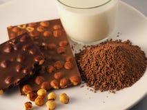 Шоколад с ингридиентами Стоковые Изображения RF