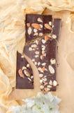 Шоколад с миндалинами стоковое изображение