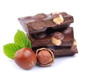 Шоколад с фундуками стоковые изображения
